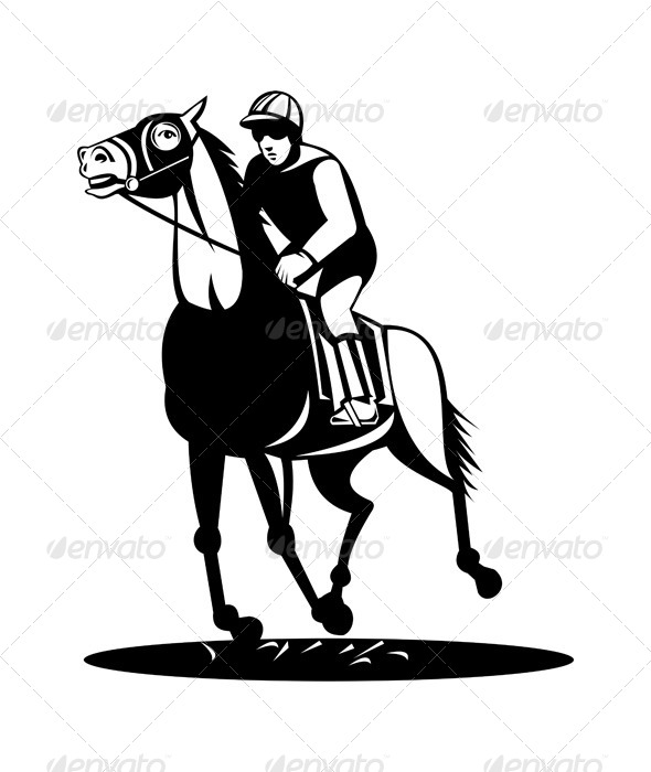 GraphicRiver Horse Racing Retro 5216929