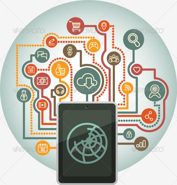 GraphicRiver Web Communication via Tablet 5216981