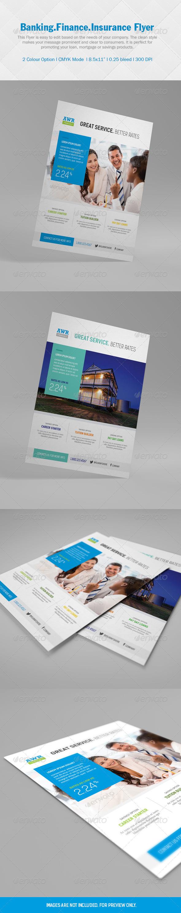 GraphicRiver Finance Flyer 5217722
