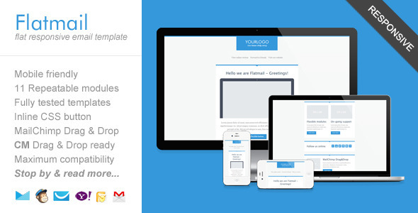 ThemeForest Flatmail Flat Responsive Email Template 5217739