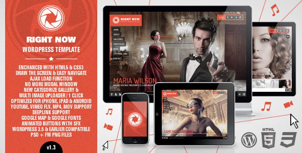 Right Now v1.3.0 WP ThemeForest Full Video, Image with Audio