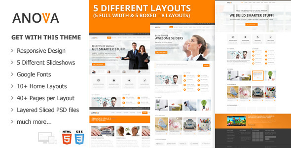 ANOVA - Responsive Multipurpose Template (Corporate)