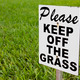 Please Keep of the Grass Sign - PhotoDune Item for Sale
