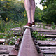 Man Walking on Railroad 1 - VideoHive Item for Sale