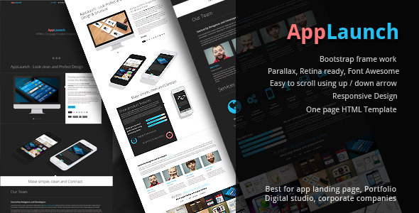 AppLaunch - Bootstrap parallax One page Template (Creative)