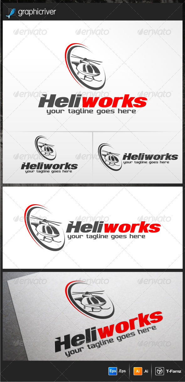 GraphicRiver Helicopter Logo Templates 5218529