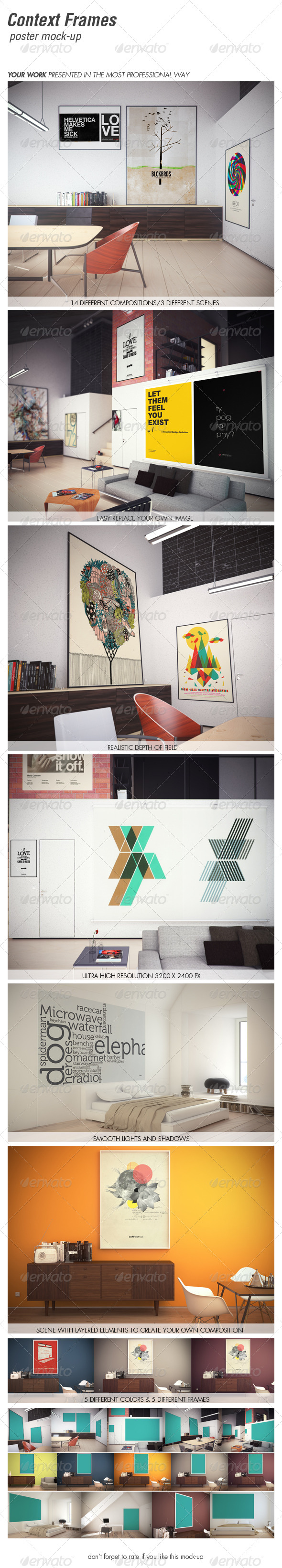 GraphicRiver CONTEXT FRAMES poster mock-up vol 2 5218827