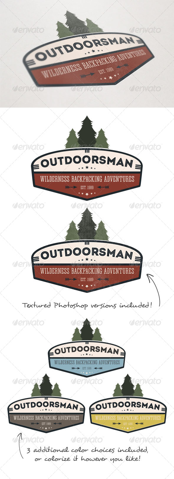 GraphicRiver Outdoorsman Backpacking Logo 5220213