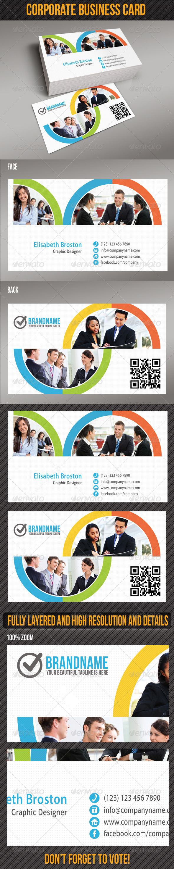 GraphicRiver Corporate Business Card 5220590