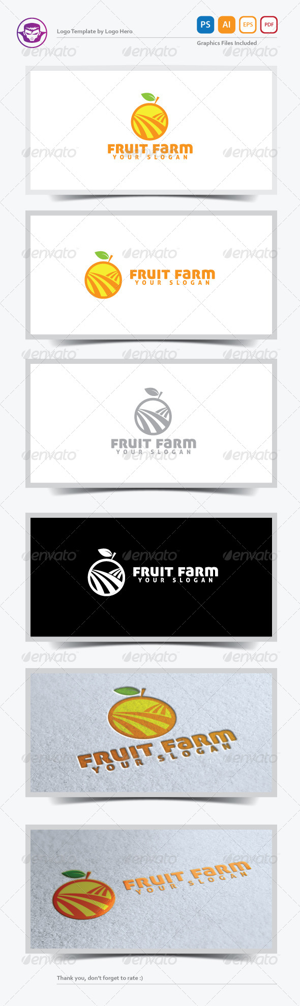 GraphicRiver Fruit Farm Logo Template 5220930