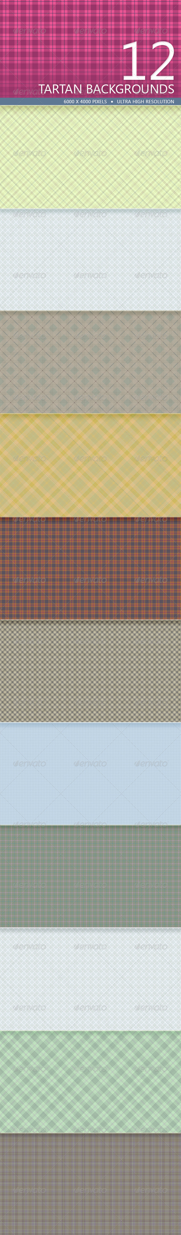 GraphicRiver Tartan Backgrounds Volume 2 5221168