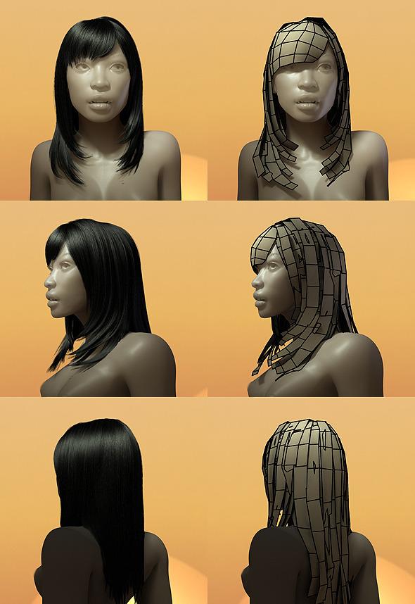 3DOcean Female Hair Style 005 535907
