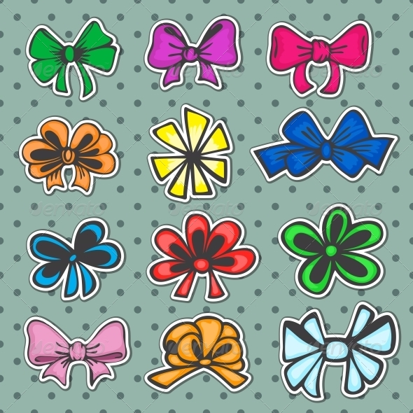 GraphicRiver Set of Colored Ribbons 5221929
