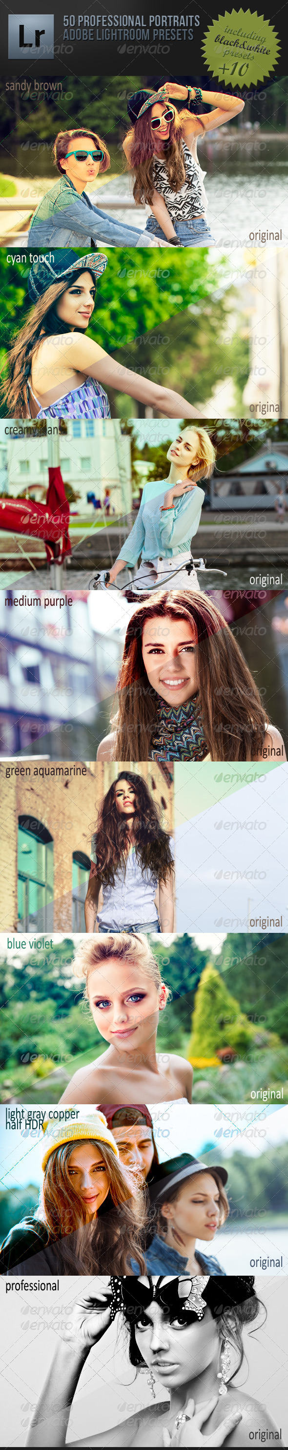 GraphicRiver 50 Professional Portraits Lightroom Presets 5222210