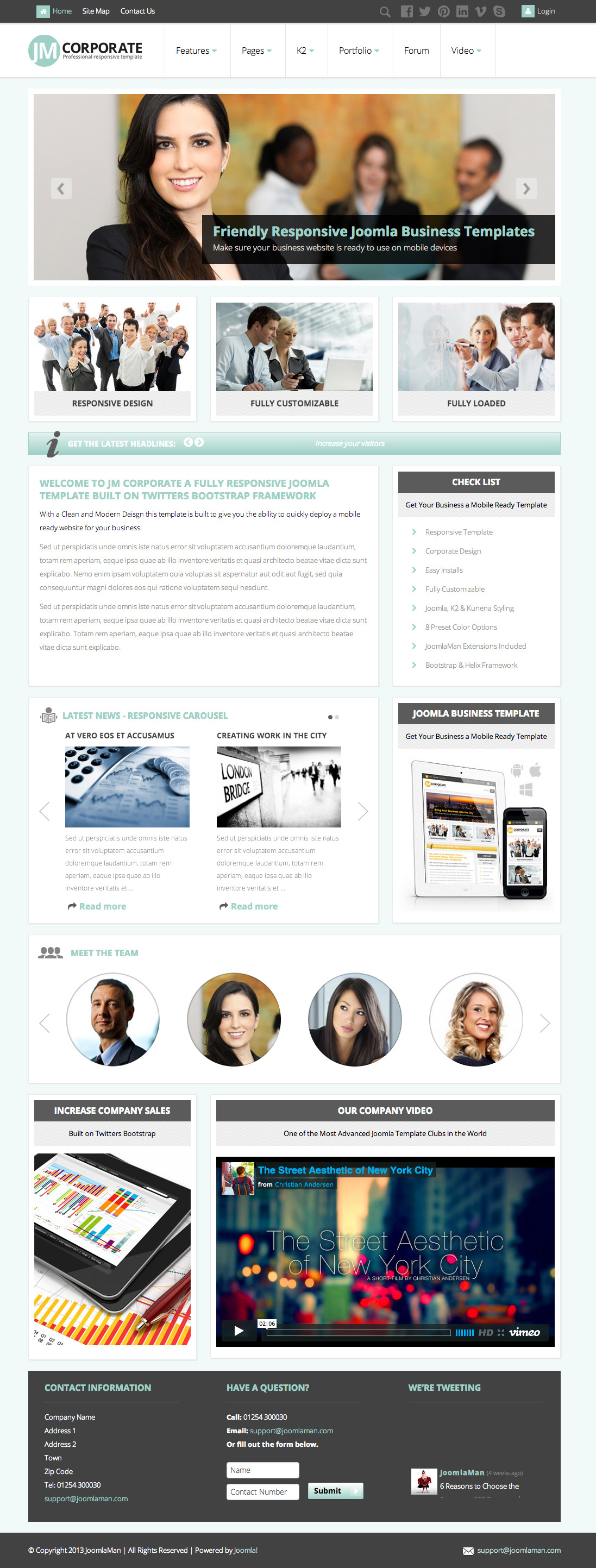 JM Corporate, Responsive Joomla Business Template