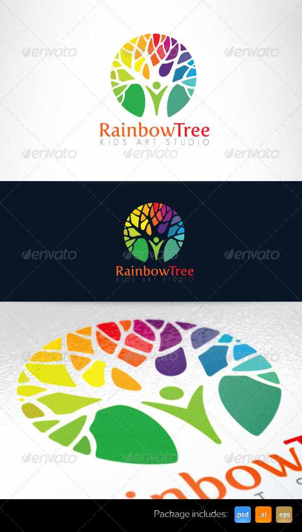 Kids Art Studio and Kindergarten Logo Template - Nature Logo Templates