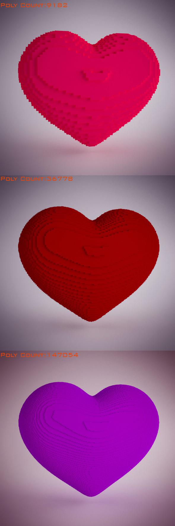 3DOcean Cubic Hearts 5224540