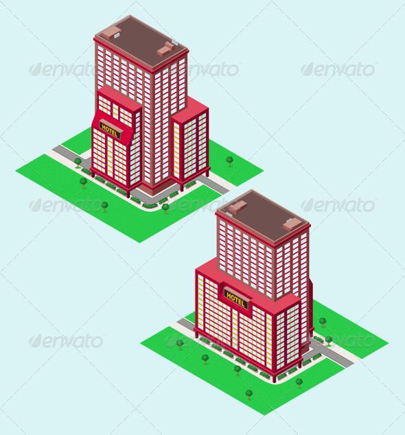 GraphicRiver Isometric Hotel 5224766