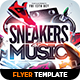 Sneakers & Music Flyer Template - GraphicRiver Item for Sale