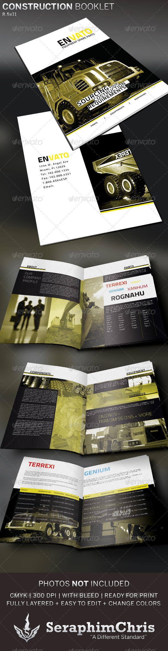 GraphicRiver Construction Supply Brochure Template 5225116