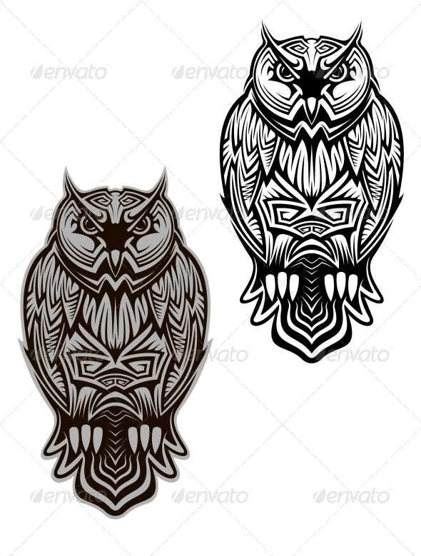 GraphicRiver Owl Tattoo 5225266