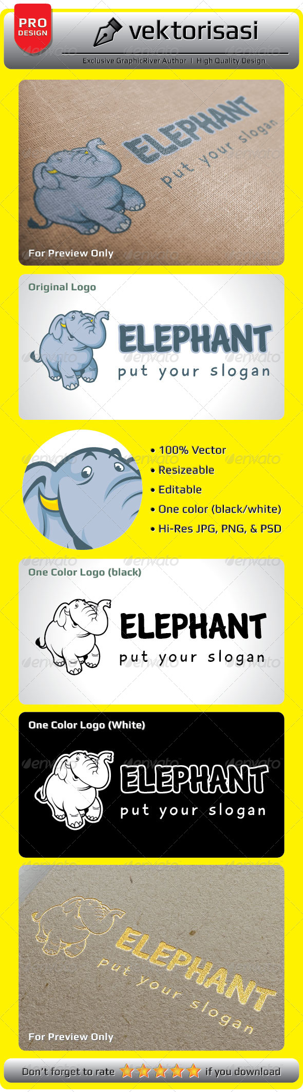 GraphicRiver Elephant Logo 5218350