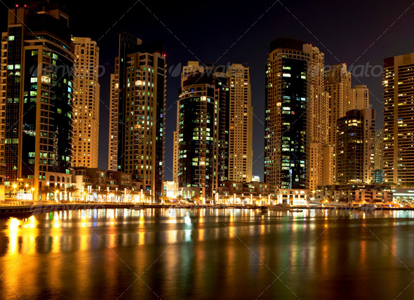 Night Dubai - Stock Photo - Images
