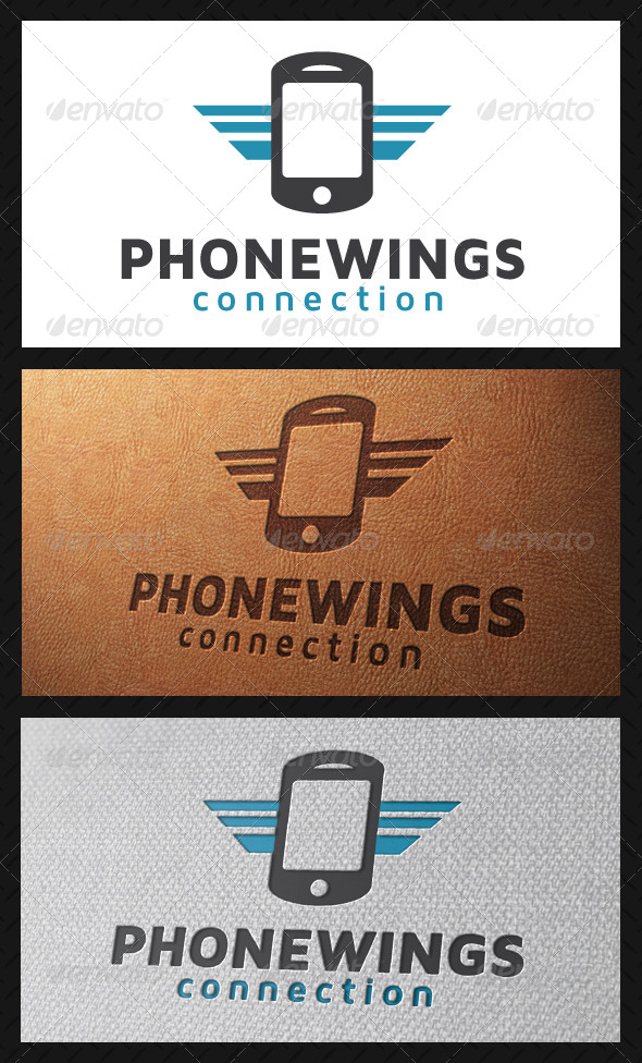 GraphicRiver Wings Mobile Logo Template 5226858