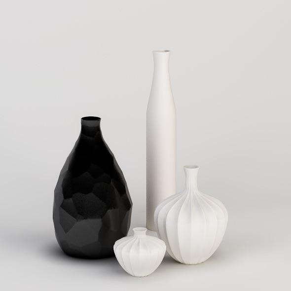 3DOcean Decorative Vases Set 537501