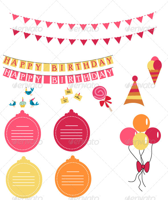 GraphicRiver Party Set 5227448