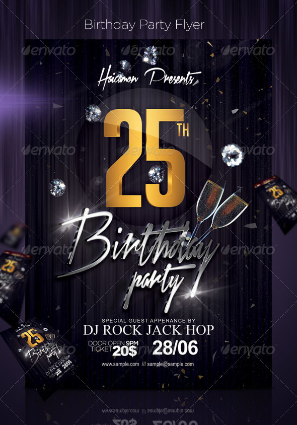 GraphicRiver Birthday Party Flyer 5098940