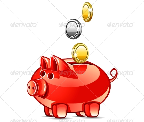 GraphicRiver Pig with Coins 5227787
