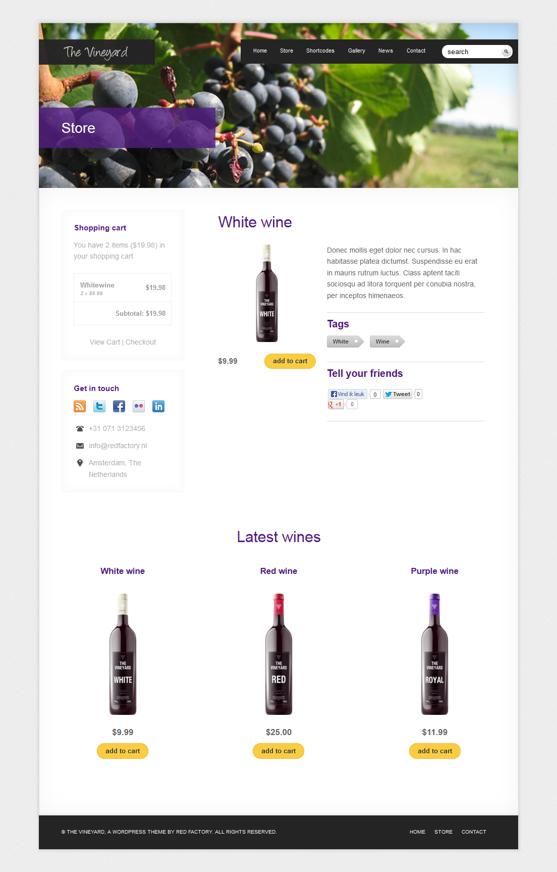 The Vineyard: A WordPress eCommerce Theme