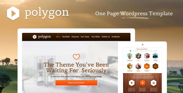 Polygon - One Page Wordpress Portfolio Template
