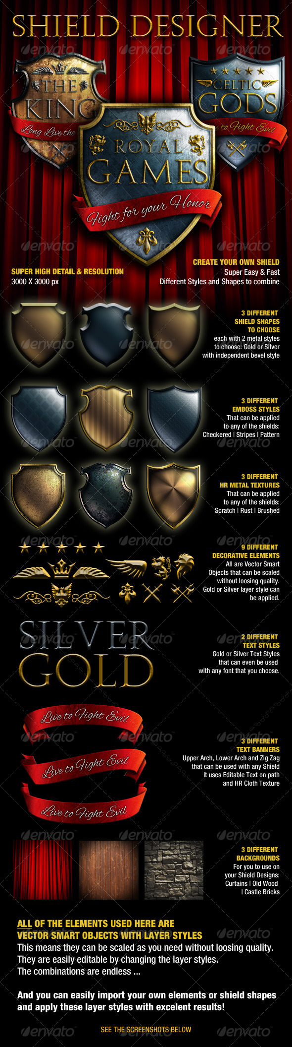 Shield Designer Kit - Miscellaneous Illustrations