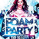 Foam Party The Return Flyer Template - GraphicRiver Item for Sale