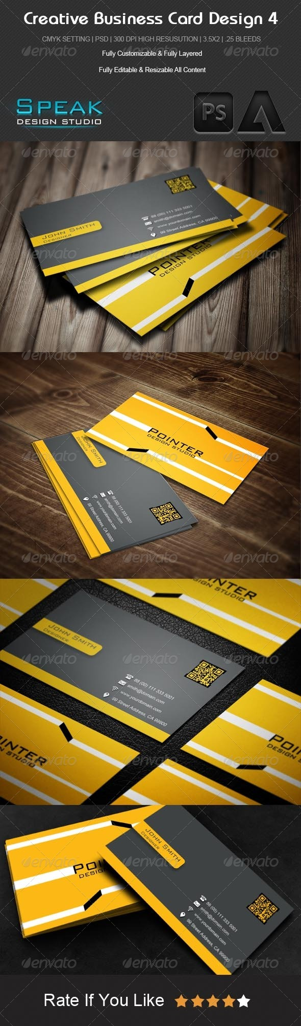 GraphicRiver Corporate Creative Business Card Design 4 5230062