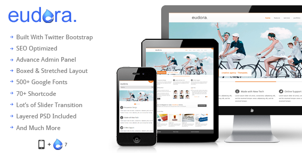 ThemeForest Eudora Responsive Corporate Drupal Theme 5149142