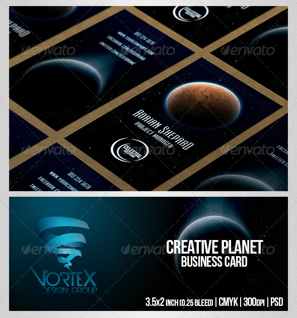 GraphicRiver Creative Planet Business Card 5230387