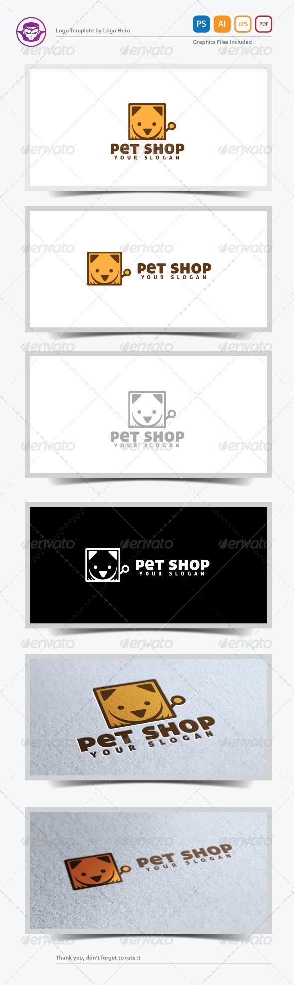 GraphicRiver Pet Shop Logo Template 5220921