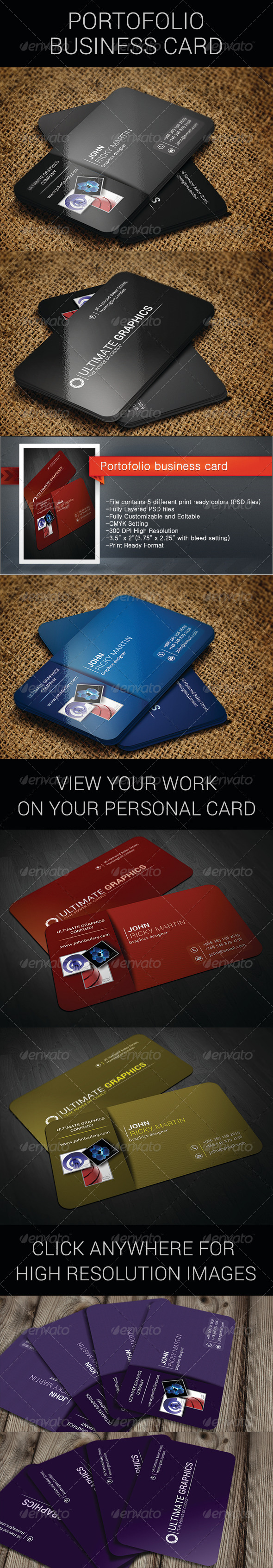 Portofolio business card - Business Cards Print Templates