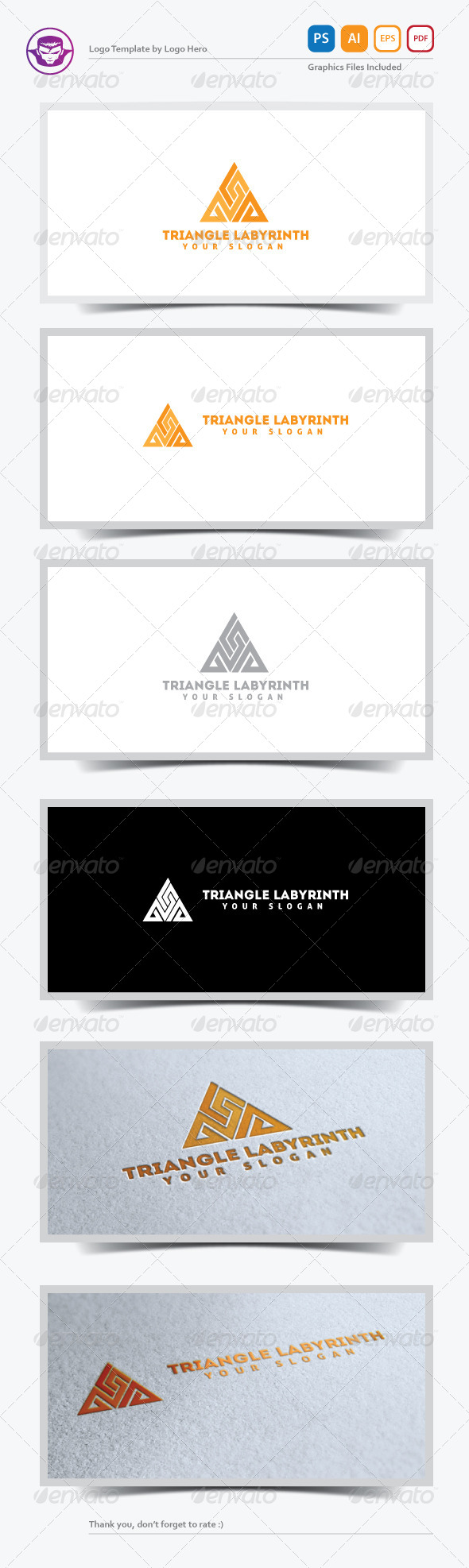 GraphicRiver Triangle Labyrinth Logo Template 5232100