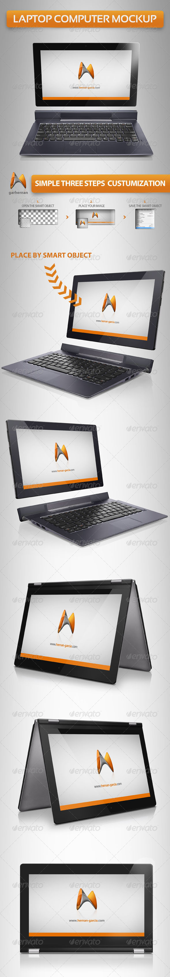 GraphicRiver Laptop Computer Mockup 5220190