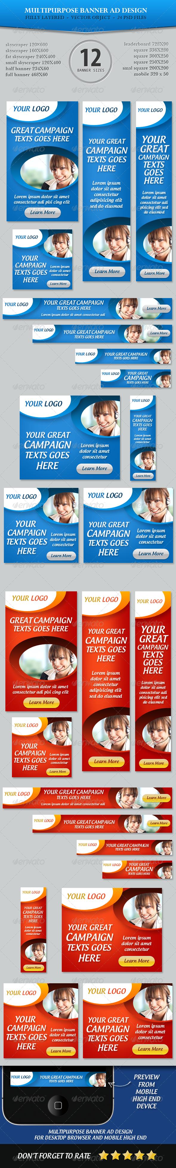 GraphicRiver Multipurpose Banner ad Design 5232862
