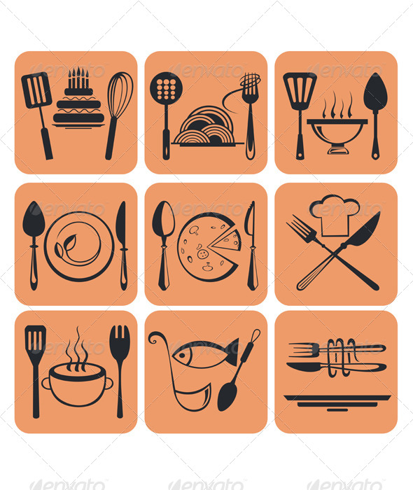 GraphicRiver Food Icons 5232942