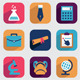 Set of Flat Education Icons for Design - GraphicRiver Item for Sale