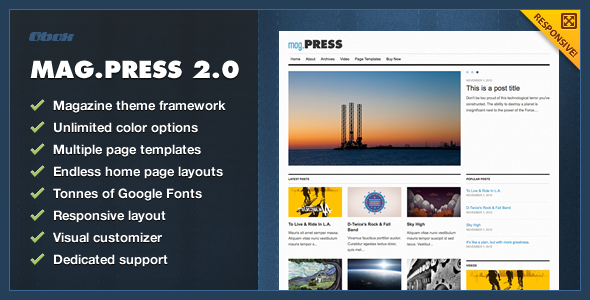 mag.Press - WordPress Magazine Theme - Blog / Magazine WordPress