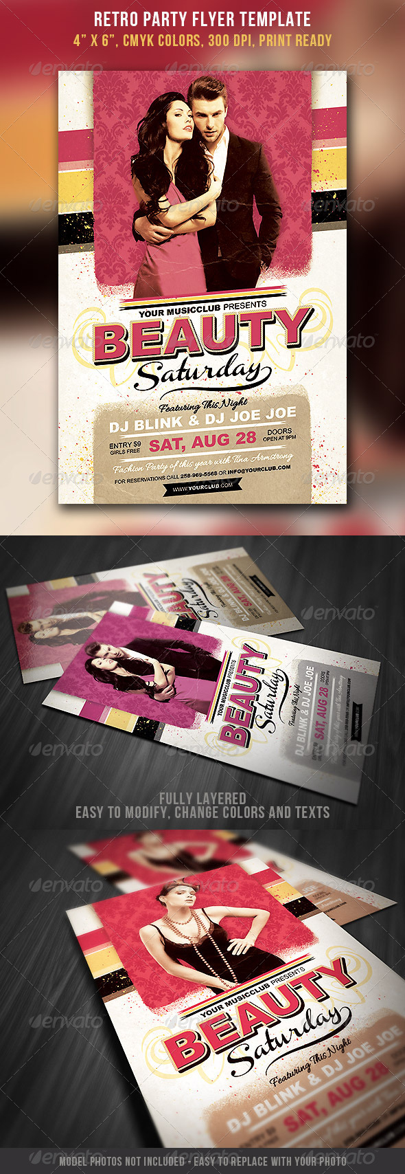 GraphicRiver Retro Party Flyer 5234052