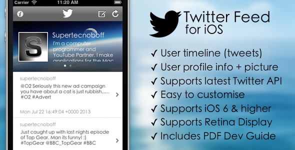 CodeCanyon Twitter Feed for iOS 5234396