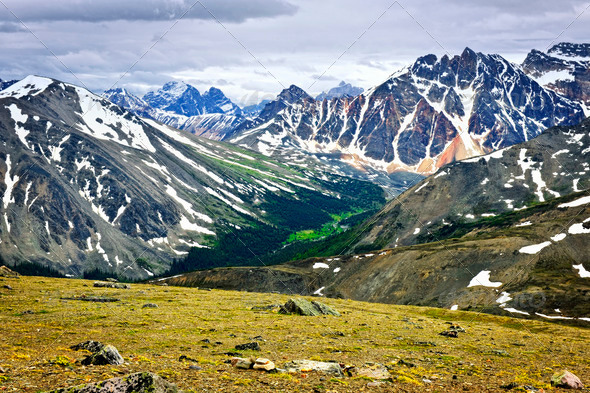Rocky Mountains in Jasper National Park, Canada - Stock Photo - Images
